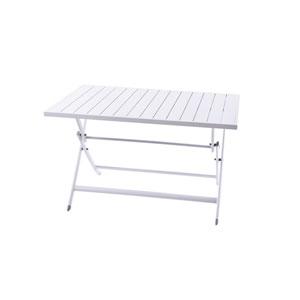 Brunch White Aluminum Folding Table