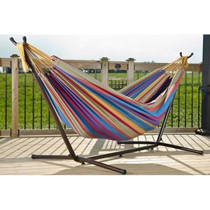 Double Tropical Hammock with Stand (9ft)