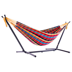 Viveres Combo - Double Paradise 9-Foot Hammock with Stand