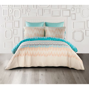 Ginny Multicolor King Three-Piece Duvet Set