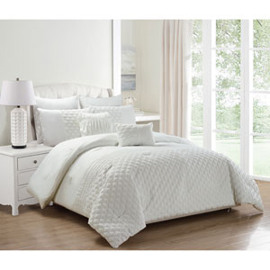 Somali White King Eight-Piece Comforter Set