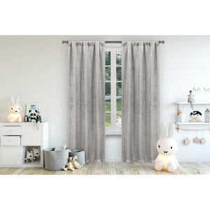 Danielle Grey 84 x 38 In. Blackout Curtain Panel Pair
