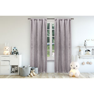Danielle Lavender 84 x 38 In. Blackout Curtain Panel Pair