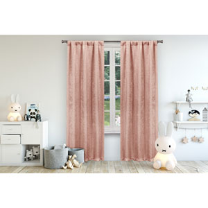 Danielle Pretty Pink 84 x 38 In. Blackout Curtain Panel Pair