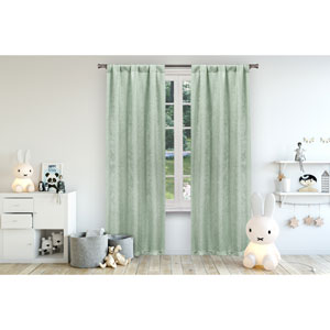 Danielle Seafoam 84 x 38 In. Blackout Curtain Panel Pair