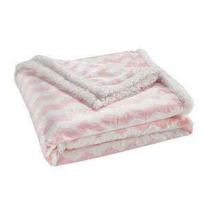 Fifi Bubble Gum Pink Sherpa Throw
