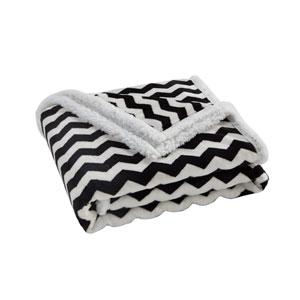 Fifi Black and White Sherpa Throw