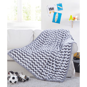 Fifi Sherpa Grey Throw