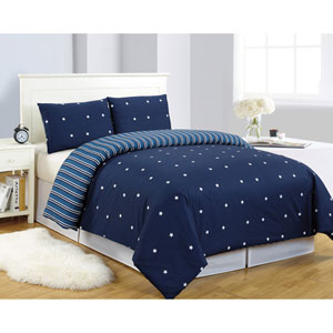 Gruden Navy Twin Two-Piece Duvet Set