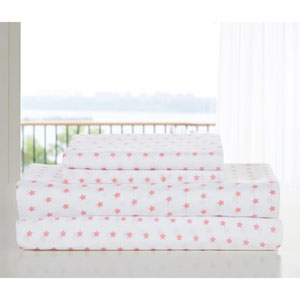 Gruden Twin Pretty Pink Four-Piece Sheet Set