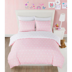 Kelly Heart Pretty Pink Twin Two-Piece Comforter Set
