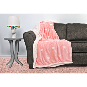 Kelly Bash Bubble Gum Pink Sherpa Throw
