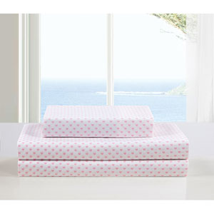 Kelly Full Three-Piece Pink Sheet Set