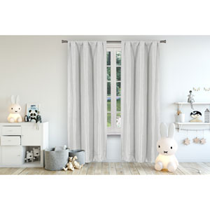 Miranda Grey 63 x 37 In. Blackout Curtain Panel Pair