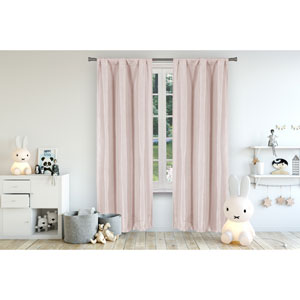 Miranda Pretty Pink 63 x 37 In. Blackout Curtain Panel Pair