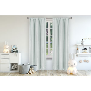 Miranda Seafoam 96 x 37 In. Blackout Curtain Panel Pair