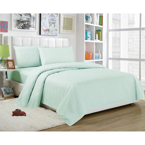 Trina Full Four-Piece Seafoam Sheet Set