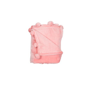 Zadie Pompom Pretty Pink Throw