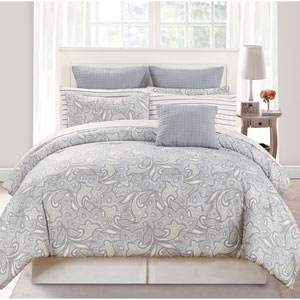 Mathylda Taupe Queen Ten-Piece Comforter Set