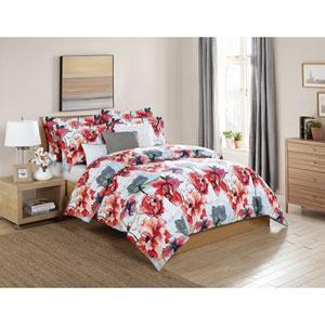 Siena Pink Multicolor Queen Six-Piece Comforter Set