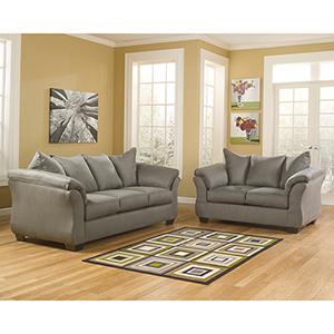 Darcy Living Room Set in Cobblestone