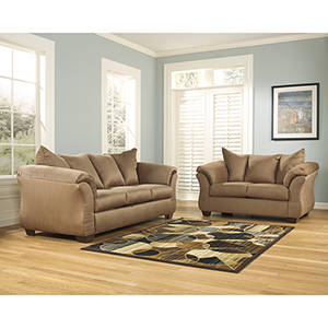 Darcy Living Room Set in Mocha