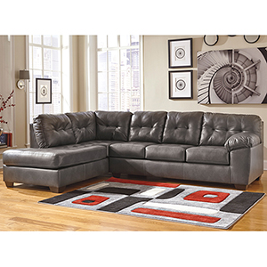 Alliston Sectional with Left Side Facing Chaise in Gray
