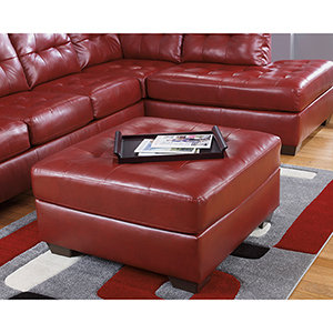 Alliston Oversized Ottoman in Salsa
