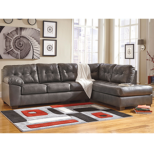 Alliston Sectional with Right Side Facing Chaise in Gray