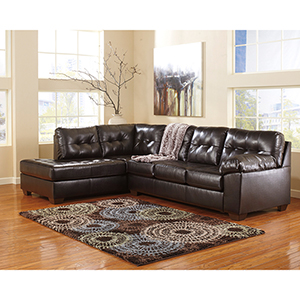 Alliston Sectional in Chocolate