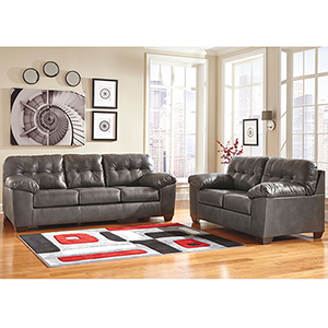 Alliston Living Room Set in Gray