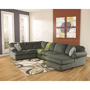 Jessa Place Sectional in Pewter