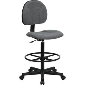 Gray Fabric Ergonomic Drafting Chair