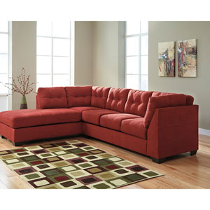 Margo Sectional with Left Side Facing Chaise in Sienna Microfiber