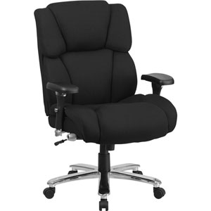 Series 24/7 Intensive Use, Multi-Shift, Big and Tall 400 lb. Capacity Black Fabric Executive Swivel Chair with Lumbar Support