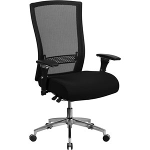 Series 24/7 Multi-Shift, 300 lb. Capacity High Back Black Mesh Multi-Functional Executive Swivel Chair with Seat Slider