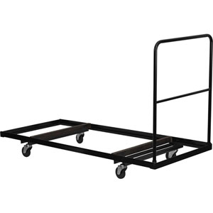 Black Folding Table Dolly for 30W x 72D Rectangular Folding Tables