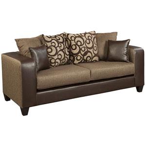 Kelly Espresso Chenille Sofa