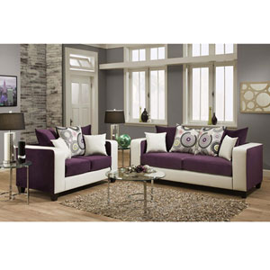 Lauren Series Purple Velvet Living Room Set