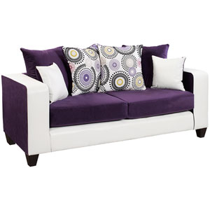 Lauren Series Purple Velvet Sofa
