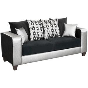 Lauren Series Black Velvet Sofa