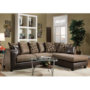 Kelly Espresso Chenille Sectional
