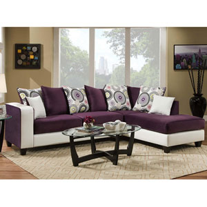 Lauren Series Purple Velvet Sectional