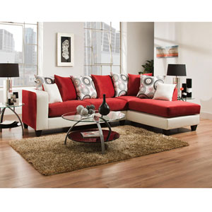 Lauren Series Red Velvet Sectional