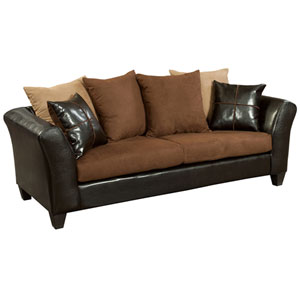 Chocolate Microfiber Sofa