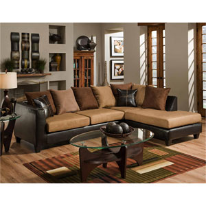 Sierra Chocolate Microfiber Sectional