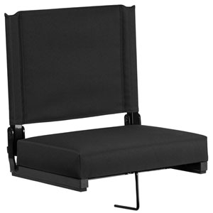 Grandstand Comfort Seats by Flash with Ultra-Padded Seat in Black