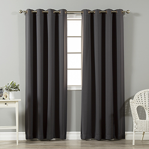 Dark Grey 120 x 52 In. In. Thermal Insulated Blackout Curtain Panel