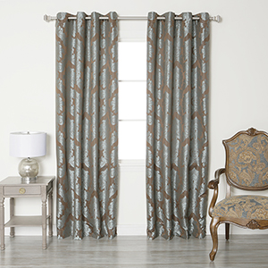 Multicolor Damask 84 x 52 In. Curtain Panel