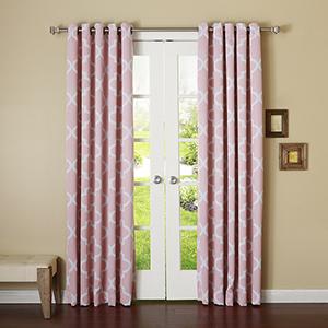 Pink Moroccan 108 x 52 In. Room Darkening Curtain Panel